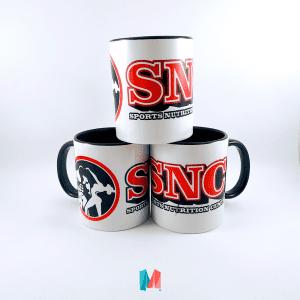 MArca, mug corporativo personalizado con el logo de SNC