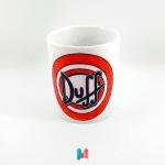 Duff, mug personalizado con logotipo de Cervezas Duff