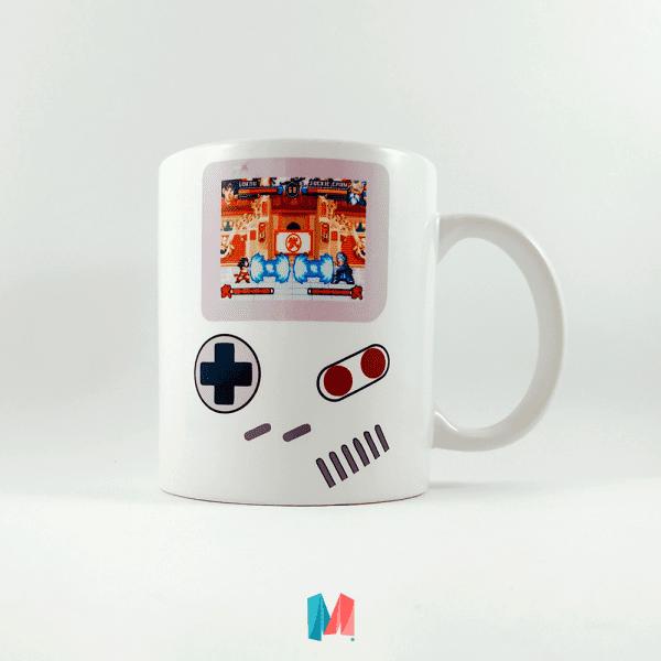 videojuego, mug personalizado con imagen de gameboy