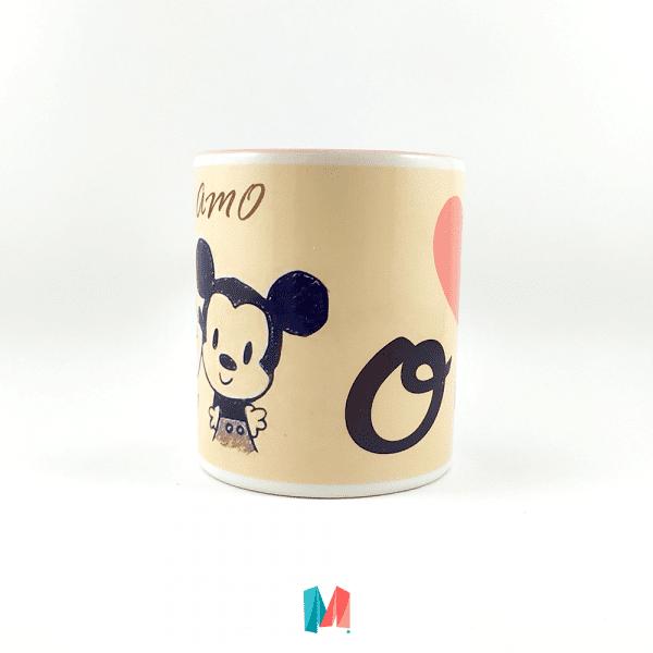 Amor, mug personalizado con diseño romántico