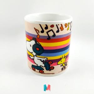 Snoopy, mug personalizado con imagen de snoopy en patines