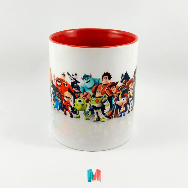 Dinsey, mug personalizado con personajes del mundo de Disney