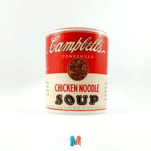 Vintage, mug personalizado con diseño de lata de campbells soup