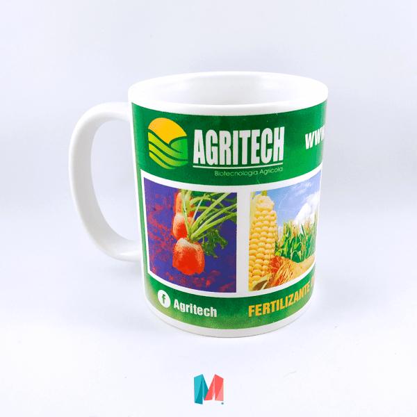 Marca, mug corporativo personalizado con marca agritech