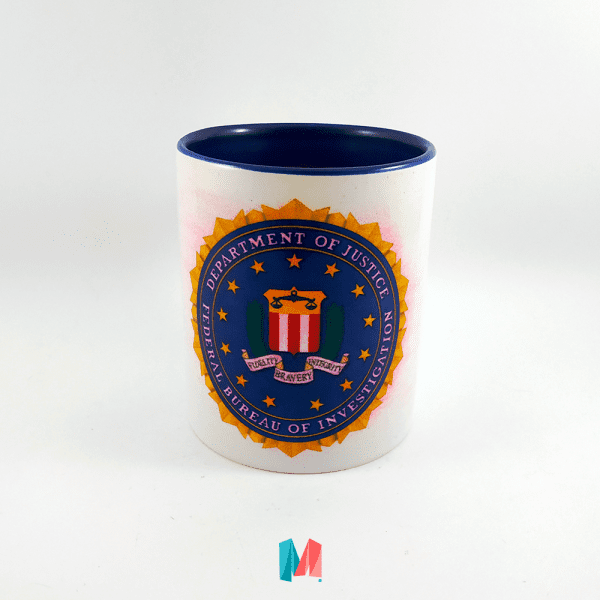 FBI, mug personalizado con escudo del FBI