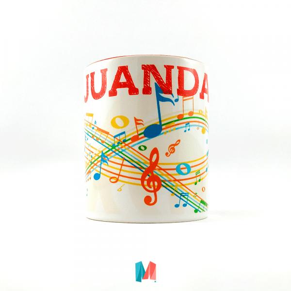 Personalizado, mug con imagen personal y diseño musical