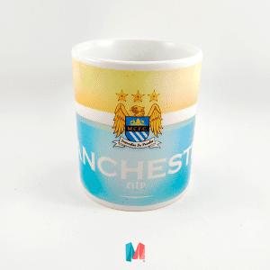 Manchester city, mug personalizado con escudo del City