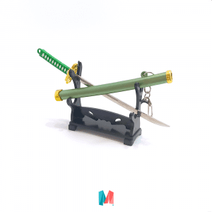 Espada, llavero importado de espada samurai con vaina verde