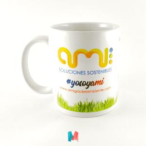 Marca, mug personalizado con frase y logo de Ami